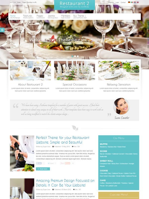 IT TheRestaurant 2 шаблон Joomla скачать