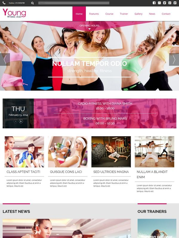 TZ Young Fitness шаблон Joomla скачать